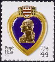4390 44c Purple Heart Full Sheet 4390s