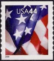 4393 44c Flag SA Coil Perf 9.5 AP F-VF Mint NH 4393mnh