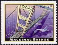 4438 $4.90 Mackinac Bridge F-VF NH 4438nh