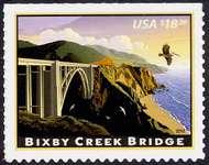 4439 $18.30 Bixby Creek Bridge Express Mail F-VF NH 4438nh