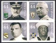 4440-43 44c Distinguished Sailor F-VF NH Plate Block of 4 4440pb