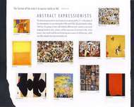 4444a-j 44c Abstract Expressionists Set of 10 Used Singles 4444a-jusg