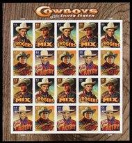4446-9 44c Cowboys of the Silver Screen F-VF NH Full Sheet 4446-9sh
