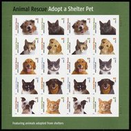 4451-60 44c Shelter Pets Sheet of 20 4560s