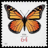 4462 64c Monarch Buitterfly F-VF Mint NH Plate Block of 4 4462pb