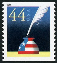 4496 44c Patriotic Quill & Inkwell SA Coil Single 4496nh