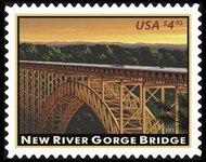 4511 $4.95 New River Gorge Bridge F-VF NH 4511nh