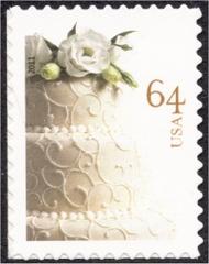 4521 64c Wedding Cake, Reissue Mint NH 4521nh