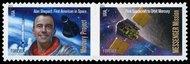 4527-8 (44c) Space First Pair Mint NH 4427-8nh