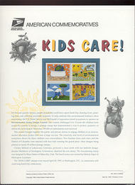 2951-54 32c Kids Care! Earth Day USPS Cat. 455 Commemorative Panel cp455