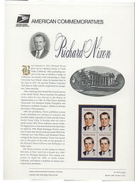 2955 32c Richard Nixon USPS Cat. 456 Commemorative Panel cp456