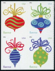 4575-8 Forever Holiday Baubles SSP Mint NH 3571-4blk