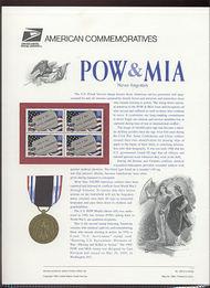 2966 32c POW & MIA ID Tags USPS Cat. 459 Commemorative Panel cp459