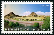 4591 (45c) Forever Stamp New Mexico Centennial 4591nh