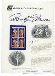 2967 32c Marilyn Monroe USPS Cat. 460 Commemorative Panel cp460