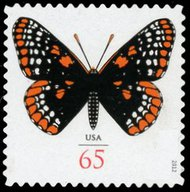 4603 65c Checker Board Butterfly F-VF Mint NH 4603nh