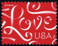 4626 (45c) Love Ribbons F-VF NH 4626nh