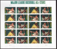 4694-7i (45c) Baseball All-Stars without die cut Sheet 4697ish