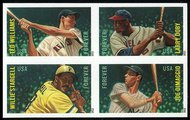 4694-7i (45c) Baseball All-Stars block of 4 without die cut 4694-7inh