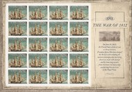 4703i (45c) War of 1812 F-VF NH Imperf Sheet of 20 4703ish
