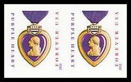 4704i (45c) Purple Heart Imperf Pair No Die Cuts 4704ipr