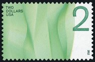 4718 $2 Waves of Color - Green Mint NH Plate Block of 4 4718pb