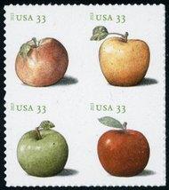 4727-30 33c Apples Mint NH Block of 4 4727-30att