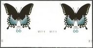 4736i 66c Swallowtail Butterfly Horizontal Imperf Pair 4736ihp