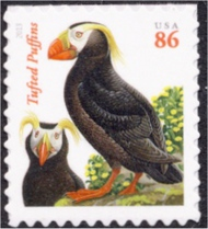4737A 86c Tufted Puffins (Date in Black) Reissue Mint NH 4737anh