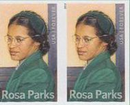4742i (46c) Rosa Parks Horizontal Imperf Pair F-VF Mint NH 4742ah