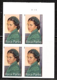 4742i (46c) Rosa Parks Imperf Plate Block of 4 F-VF Mint NH 4742ipb