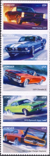 4743-7 (46c) Muscle Cars Set of 5 Used Singles 4743-7used