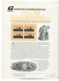 3059 32c Smithsonian Institution USPS 480 Commemorative Panel cp480