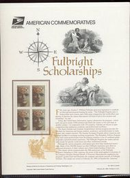 3065 32c Fulbright Scholarships USPS Cat. 483  Commemorative Panel cp483