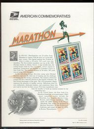 3067 32c Marathon USPS Cat. 485 Commemorative Panel cp485