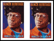 4856i Forever Shirley Chisholm Horizontal Imperf Pair 4856ihp