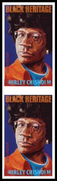 4856i Forever Shirley Chisholm Vertical Imperf Pair 4856ivp