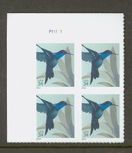 4857 34c Hummingbird Mint NH Plate Block of 4 4857pb