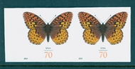 4859i 70c Fritillary Butterfly Mint NH Horizontal Imperf Pair 4859ihp
