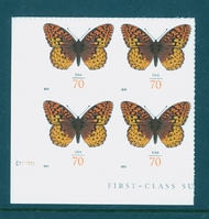 4859 70c Fritillary Butterfly Mint NH Plate Block 4859nh