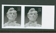 4860i 21c Lincoln Mint NH Horizontal Imperf Pair 4860ihp