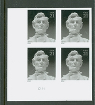 4860i 21c Lincoln Mint NH Imperf Plate Block 4860ipb
