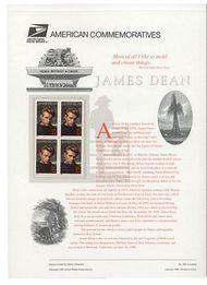 3082 32c James Dean USPS Cat. 488 Commemorative Panel cp488