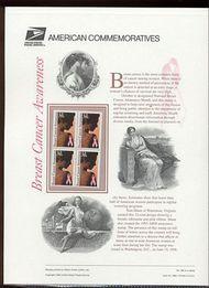 3081 32c Breast Cancer USPS Cat. 490 Commemorative Panel cp490