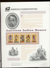 3072-76 32c Indian Dances Cat. USPS 491 Commemorative Panel cp491