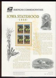 3088 32c Iowa Statehood USPS Cat. 494 Commemorative Panel cp494