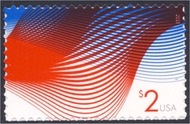 4954 $2 Patriotic Wave Mint Single 4954nh