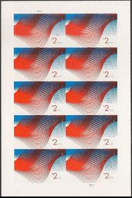 4954 $2 Patriotic Wave Mint Sheet of 10 4954sh
