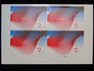 4954 $2 Patriotic Wave Mint Plate Block of 4 4954pb