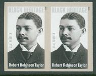 4958i (49c) Robert Robinson Taylor Imperf Horizontal Pair 4958ihp